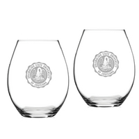 Set of 2 Etched 20 oz Riedel Stemless Wine Glasses (Online Only)