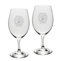 Gift Set of 2 Etched 18 oz Riedel Wine Glasses (Online Only)