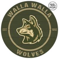 Indoor Outdoor Colored Logo Circle Sign