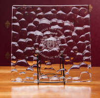 Crystal Nachtman Sphere Square Plate 11 inch (Online Only)