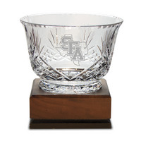 Handcut Deep Etched Traditional Crystal Footed Revere Bowl 7.5x5H (Online Only)