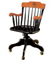 Swivel Desk Chair Silk Screen Black with Cherry Arms (Online Only)