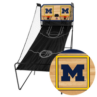 Michigan Wolverines Classic Court Double Shootout Basketball Game