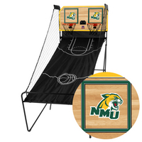 Northern Michigan Wildcats Classic Court Double Shootout Basketball Game
