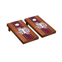 Texas Southern Tigers Regulation Cornhole Game Set Rosewood Stained Stripe Version