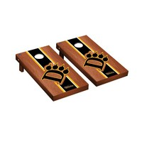 Ohio Dominican ODU Panthers Regulation Cornhole Game Set Rosewood Stained Stripe Version