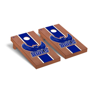 Southern Connecticut State Owls Regulation Cornhole Game Set Rosewood Stained Stripe Version
