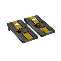 Emporia State Hornets Regulation Cornhole Game Set Onyx Stained Stripe Version