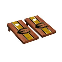 Emporia State Hornets Regulation Cornhole Game Set Rosewood Stained Stripe Version