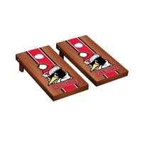 Youngstown State Penguins Regulation Cornhole Game Set Rosewood Stained Stripe Version