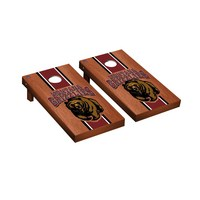 University of Montana Grizzlies Regulation Cornhole Game Set Rosewood Stained Stripe Version