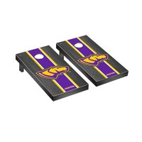 Wisconsin Stevens Point Pointers Regulation Cornhole Game Set Onyx Stained Stripe Version