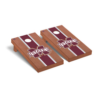 Mississippi State MSU Bulldogs Regulation Cornhole Game Set Rosewood Stained Stripe Version