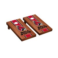 Ball State Cardinals Regulation Cornhole Game Set Rosewood Stained Stripe Version