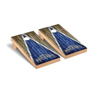 Mount St. Marys Mountaineers The Mount Regulation Cornhole Game Set Triangle Weathered Version