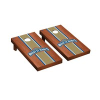 Mount St. Marys Mountaineers The Mount Regulation Cornhole Game Set Rosewood Stained Stripe Version