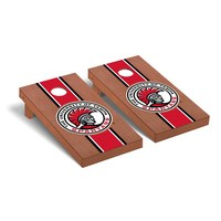 University of Tampa Spartans Regulation Cornhole Game Set Rosewood Stained Striped Wooden