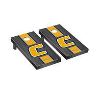 University of Tennessee at Chattanooga Mocs Regulation Cornhole Game Set Onyx Stained Stripe Version