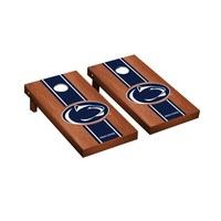 Penn State PSU Nittany Lions Regulation Cornhole Game Set Rosewood Stained Stripe Version
