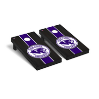 High Point Panthers Regulation Cornhole Game Set Onyx Stained Stripe Version