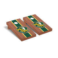 William & Mary Tribe Regulation Cornhole Game Set Rosewood Stained Stripe Version