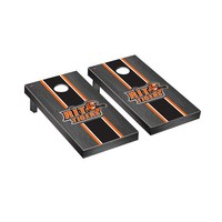 Rochester Institute of Technology Tigers Regulation Cornhole Game Set Onyx Stained Stripe Version