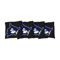 4 Westfield State Black Regulation All Weather Cornhole Bags