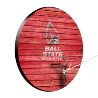 Ball State Cardinals Weathered Design Hook and Ring Game