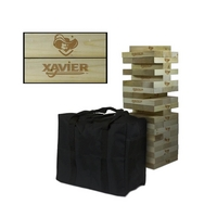 Xavier University Musketeers Giant Wooden Tumble Tower Game