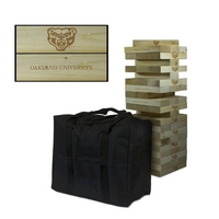 Oakland University Golden Grizzlies Giant Wooden Tumble Tower Game