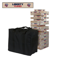 Liberty University Flames Giant Wooden Tumble Tower Game
