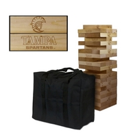 Tampa Spartans Giant Wooden Tumble Tower Game