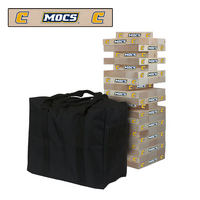 Tennessee Chattanooga University Mocs Giant Wooden Tumble Tower Game