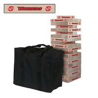 Cal State Stanislaus Warriors Giant Wooden Tumble Tower Game