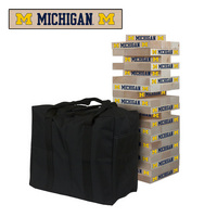 Michigan Wolverines Wooden Tumble Tower Game