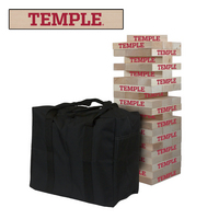 Temple University Owls Giant Wooden Tumble Tower Game