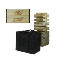 Bucknell University Bison Wooden Tumble Tower Game