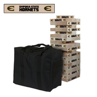 Emporia State University Hornets Giant Wooden Tumble Tower Game