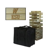 East Stroudsburg University Warriors Giant Wooden Tumble Tower Game