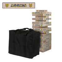North Carolina A&T State University Aggies Giant Wooden Tumble Tower Game