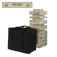 Northern Michigan Wildcats Wooden Tumble Tower Game