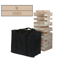 Lewis Clark State Warriors Wooden Tumble Tower Game
