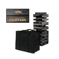 Wisconsin Stevens Point Pointers Wooden Tumble Tower Game
