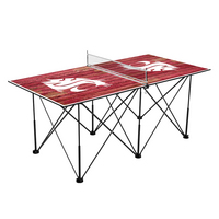 Washington State Cougars Pop Up Table Tennis 6ft Weathered Design
