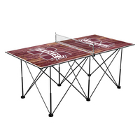 Mississippi State University Bulldogs Pop Up Table Tennis 6ft Weathered Design