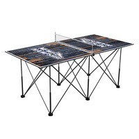 New Hampshire Wildcats Pop Up Table Tennis 6ft Weathered Design
