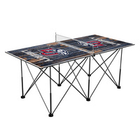 Liberty University Flames Pop Up Table Tennis 6ft Weathered Design