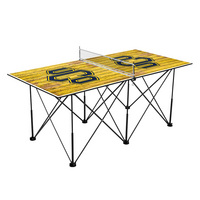 Central Oklahoma Bronchos Pop Up Table Tennis 6ft Weathered Design