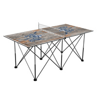 Colorado Mines Orediggers Pop Up Table Tennis 6ft Weathered Design