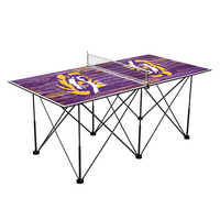 LSU  Louisiana State Tigers Pop Up Table Tennis 6ft Weathered Design